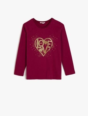 Koton Kids Sim Detayli T-Shirt Bordo